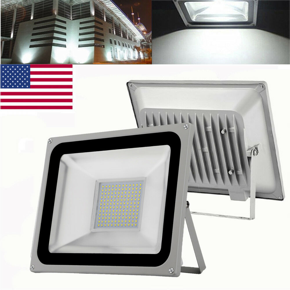 Spotlamp Led 2x 100w Watt Led Smd Cool White Spotlight Flood Light