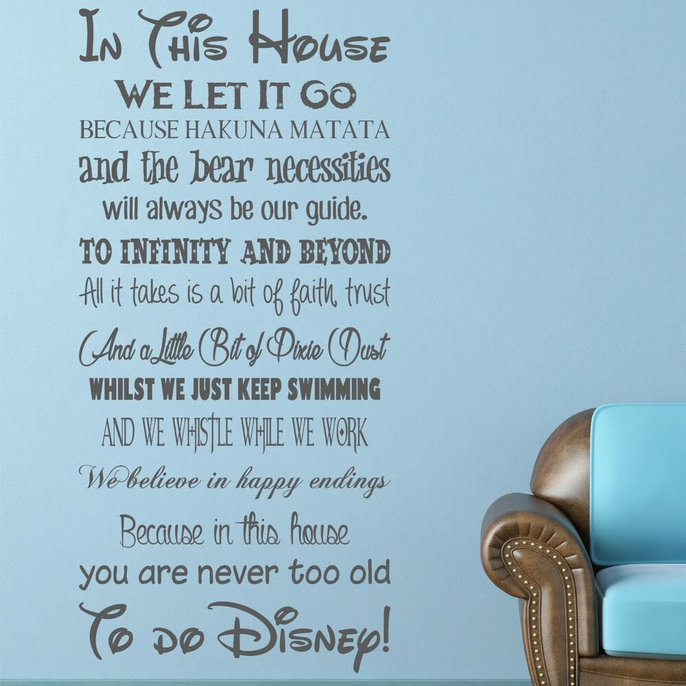 WE DO DISNEY House rules vinyl wall art sticker quote