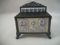 Stove - Blue Onion Porcelain 1.843/1 miniature dollhouse ...