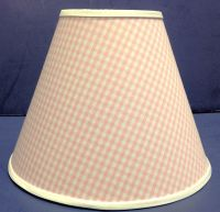 Pink Gingham Checks Handmade Lamp Shade Lampshade