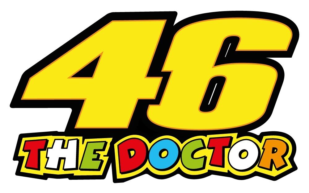 Valentino rossi 46 the doctor vinyl sticker decals 150 x