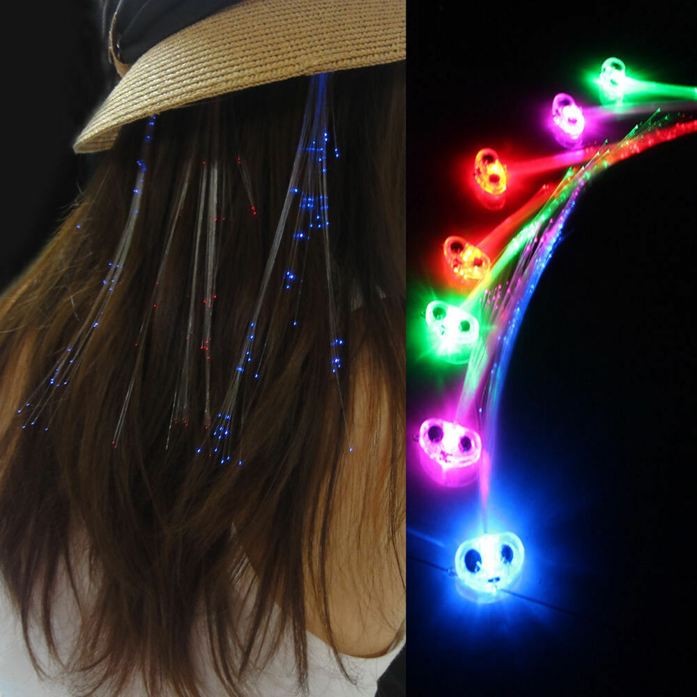 Barette Led New Light Up Hair Clip Extensions Led Costume Flashing
