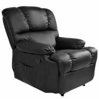 Recliner Massage Sofa Chair Deluxe Ergonomic Lounge Couch ...