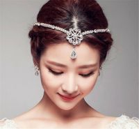 Wedding Bridal Forehead Hair Accessories Tiara Rhinestone ...