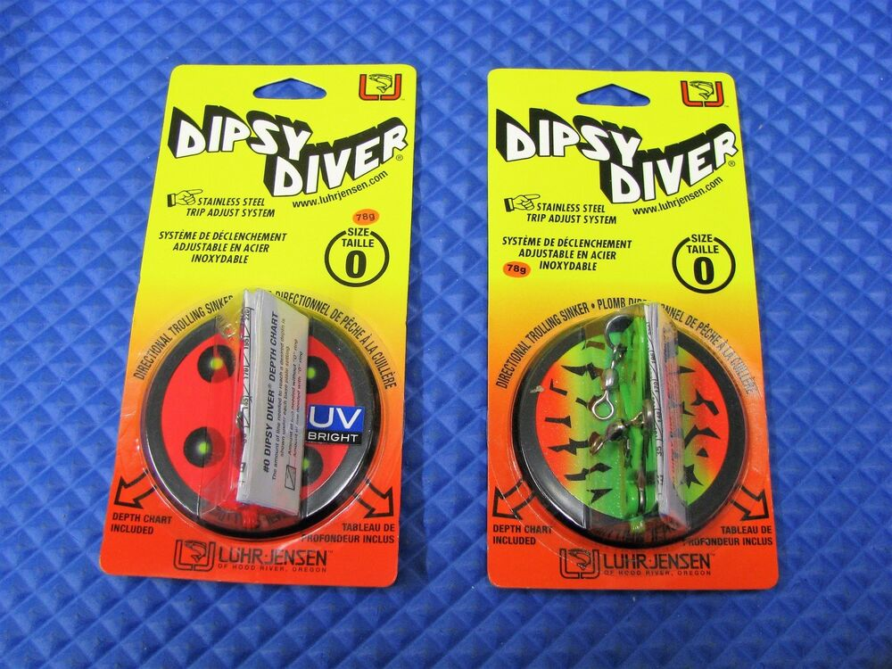 Luhr Jensen Dipsy Divers Size 0 5560-000 Series CHOOSE YOUR COLOR