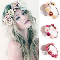 Fashion Women Wedding Flower Hair Garland Crown Headband