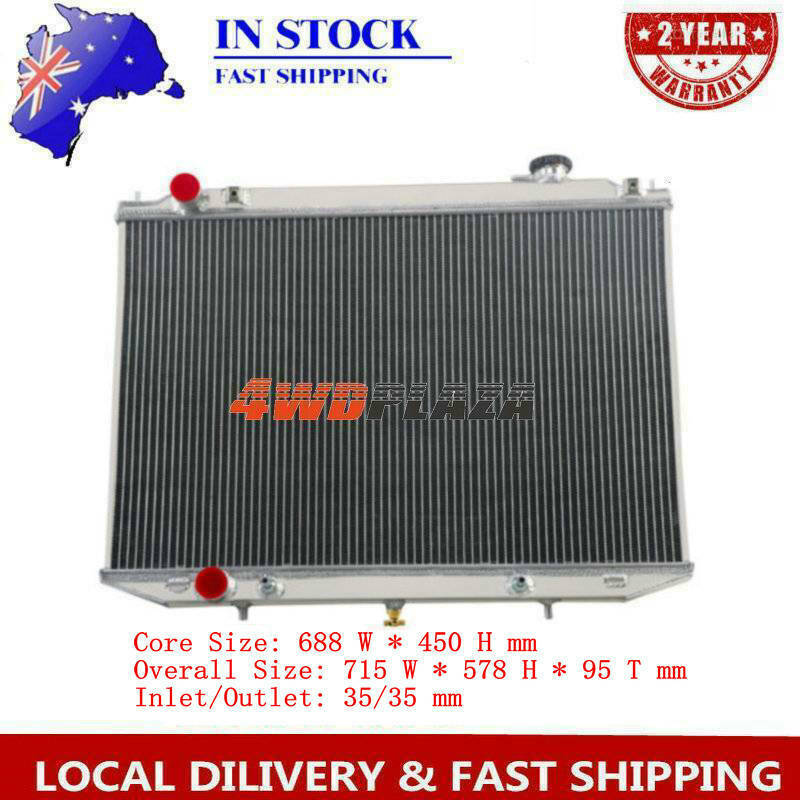 Turbo Diesel Aluminium Radiator FOR Nissan Navara D22 07-ON 25L