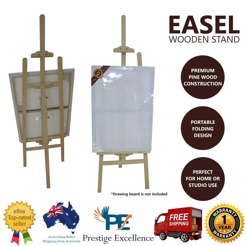 Artist Easel Australia New Wooden Art Easel Foldable Display Painting Artist Stand Tripod Drawing Board Ebay