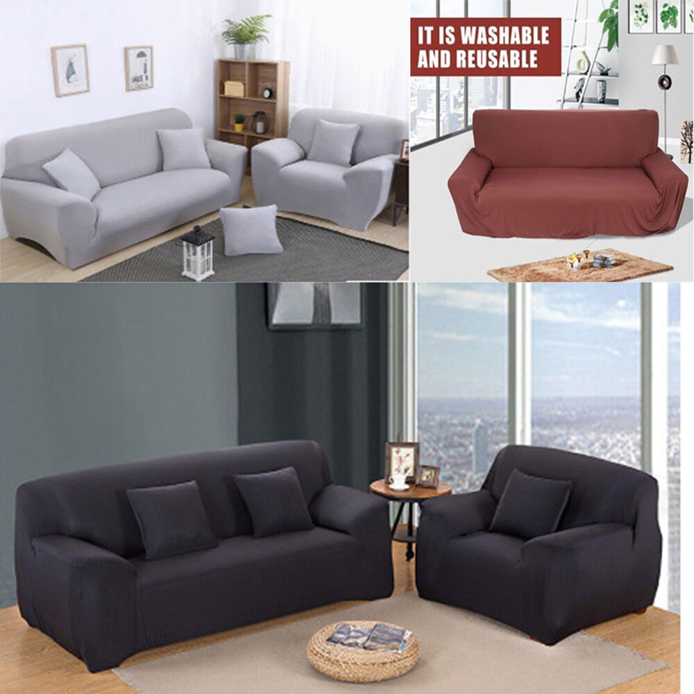 Sofa Covers Uk 1 2 3 Seater High Elasticity Sofa Covers Full Cover Couch Protector Slipcover Uk Ebay