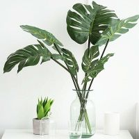 Artificial Decor Faux Foliage Turtle Leaves Leaf Coconut ...