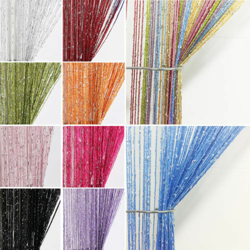 Glitter String Door Curtain Room Divider Window Panel