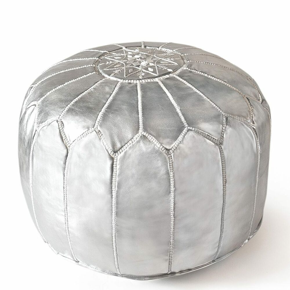 Moroccan Leather Pouf Design Sit Down Pinterest Leather Moroccan Pouf Handmade Ottoman Poufe Grey Genuine Leather Unstuffed Ebay