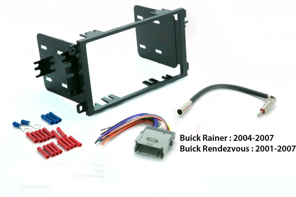 Double Din Dash Kit Combo Stereo Radio Install w Harness + Antenna