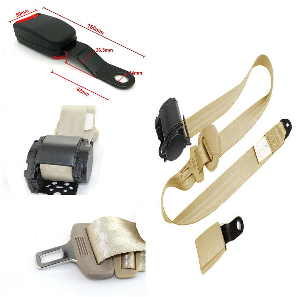 Safety Belt Adjustable 3 Point Safety Seat Belt Lap Diagonal Belt W Curved Rigid Buckle 7317894936852 Ebay