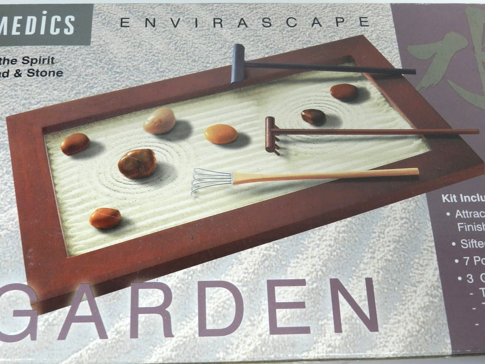 Table Top Zen Garden Upc 031262006233 Homedics Envirascape Zen Garden Kit Zen Wd Wood