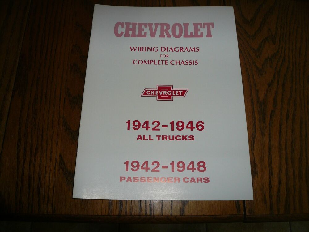 1942 - 1946 Chevrolet Car  Truck Wiring Diagrams for Complete