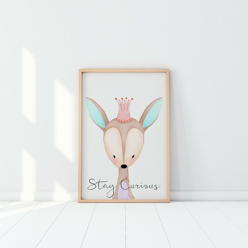 Nursery Prints Girl Woodland Deer Nursery Nursery Girl Nursery Prints Baby Girl Nursery Deer Art Ebay