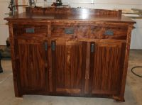 Concealed 8 Rifle Case Custom Wood Gun Cabinet Rack ...