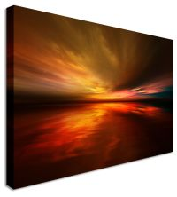LARGE Moody Sunset Canvas Wall Art Pictures For Home ...