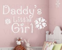 Wall Decal Art Sticker Quote Vinyl Daddy's Little Girl ...