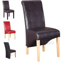 Dining Chairs - Quality PU Faux Leather Dining Room Chair ...