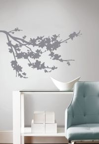 GRAY BRANCH SILHOUETTE WALL DECALS New Tree Branches ...