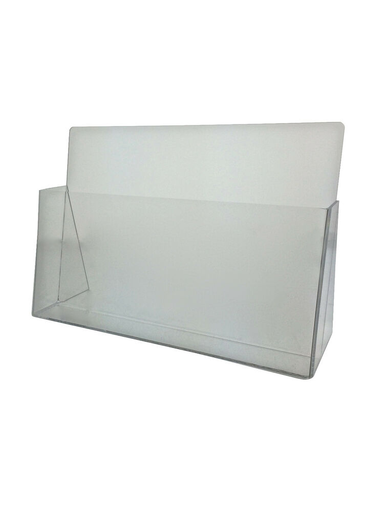 Clear Acrylic Brochure Holder For 11quotw X 7 7 16quoth
