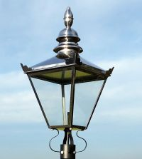 Large Victorian Traditional Style Lantern Lamp Post Light ...