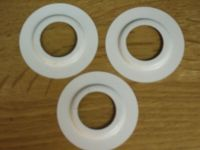 PACK OF 3 SHADE RINGS LIGHT FITTINGS OR TABLE LAMP REDUCER ...