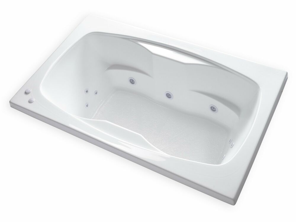 Carver Tubs Ar6042 60quot X 42quot White 12 Jetted Whirlpool