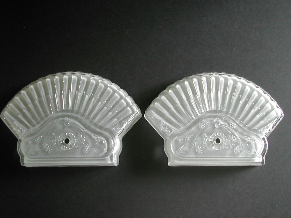 Lighting Fixture Replacement Glass Vintage Frosted Glass Ceiling Light Fixture End Covers | Ebay
