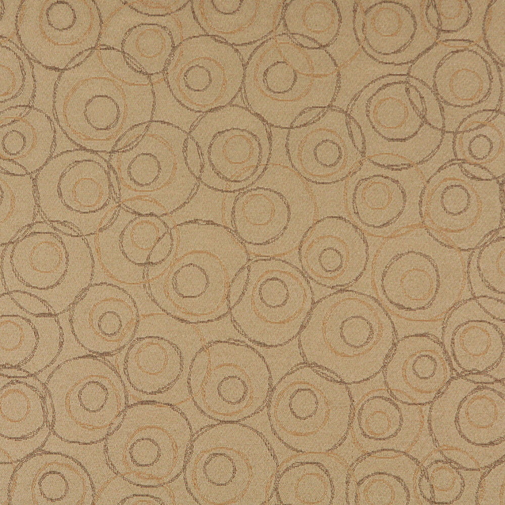 Durable Upholstery Fabric For Sofa C587 Beige Brown Gold Overlapping Circles Durable Upholstery Fabric By The Yard Ebay