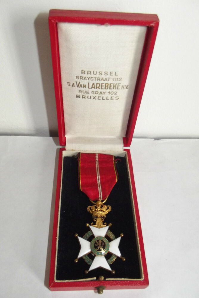 Decoration Belge Ancienne Medaille Decoration De Redders Van Antwerpen