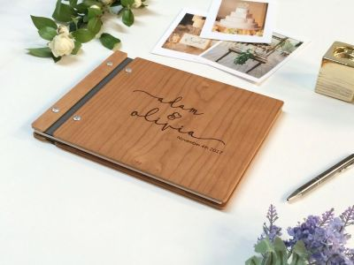 Personalized Wedding guest book - Modern Guest Book ...