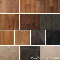Quality Vinyl Flooring Roll CHEAP, Wood or Tile Effect ...