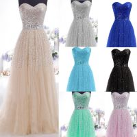 New Formal Long Evening Ball Gown Party Prom Bridesmaid ...