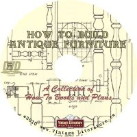 How To Build Antique Furniture { Vintage Woodworking Plans ...