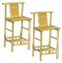 Bamboo Bar Chairs/Stools -Tiki Bar Style-Natural Color ...
