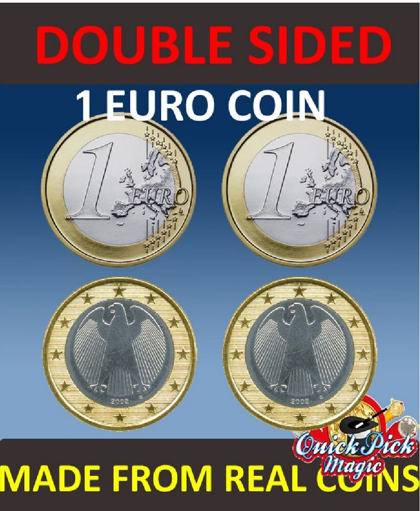 Ebay 1 Euro Double Sided 1 Euro Coin 1 Euro Same Side Euro Coin Euro Coin Magic Ebay