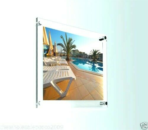 Clear Perspex Photo Frame Acrylic Wall Mount Poster