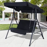 Black Outdoor Patio Swing Canopy Awning Yard Furniture ...