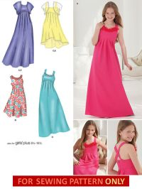 SEWING PATTERN! MAKE GIRLS PROM~JR BRIDESMAID FANCY DRESS ...