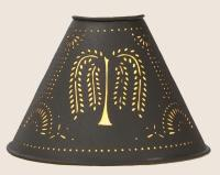 PRIMITIVE PUNCHED TIN WILLOW 6 CLIP-ON LAMP SHADE In ...