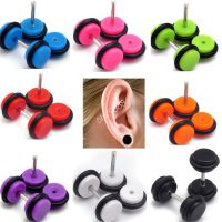 2PCS of Cheater Faux Fake Ear Plugs Gauges Tapers Earrings ...