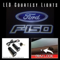 2Pc Ford F150 LED Courtesy Ghost Shadow Lights Door Logo ...