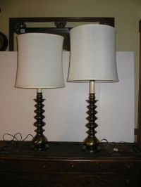 Vintage Pair Ethan Allen Candlestick Table Lamps Solid ...