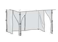 CURTAINS ONLY for Homebase Lucca 3m Patio Gazebo (Side ...