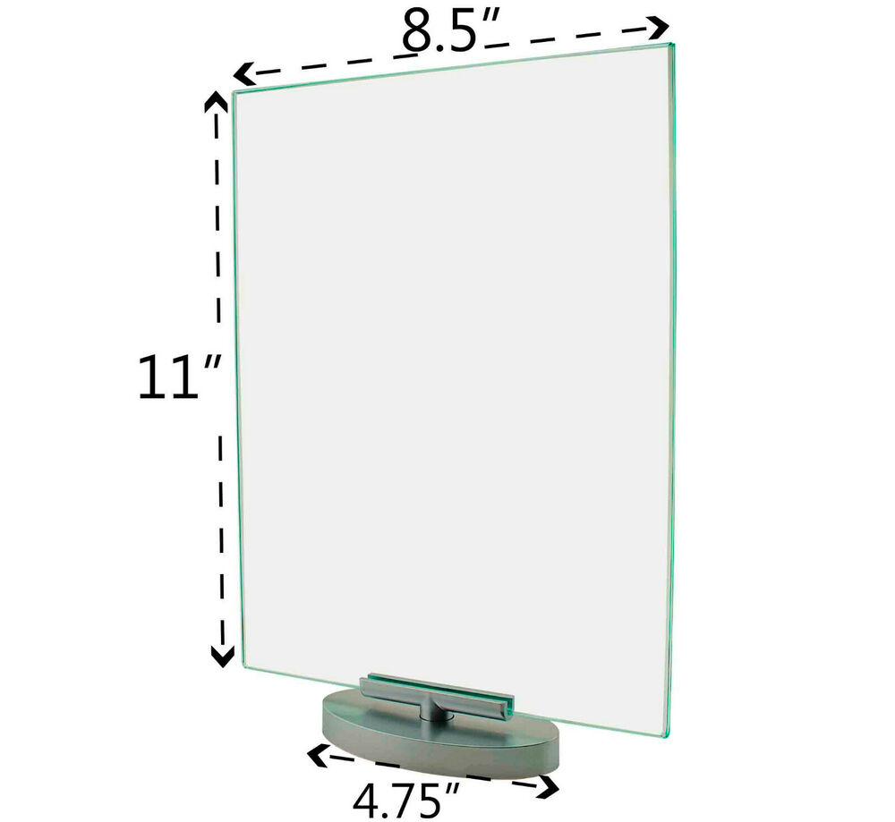 Rotating 85quot X 11quot Swivel Ad Frame Menu Picture Sign