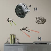 STAR WARS CLASSIC SPACE SHIPS DEATH STAR WALL DECALS ...