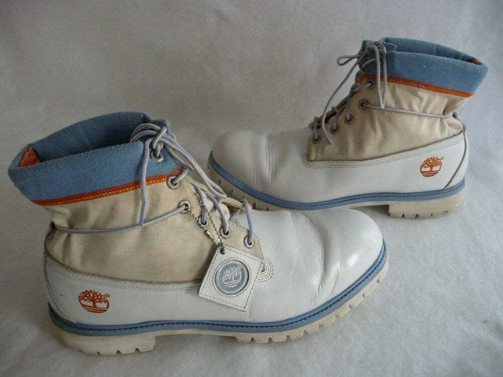 Timberland Mens Hiking Outdoor Work Boots 13m White Beige
